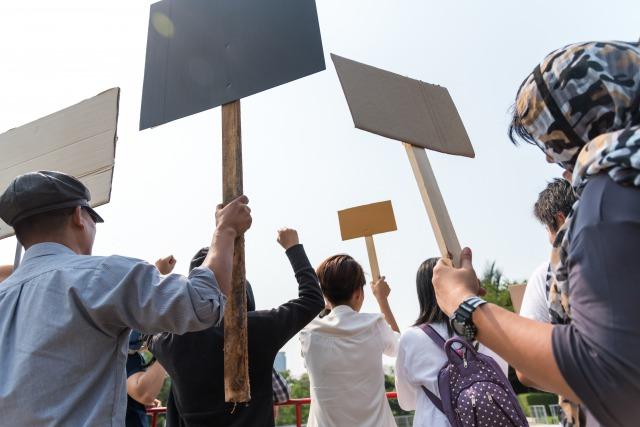 反政府デモ